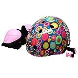 ラングスジャパン(RANGS) ラングスジュニアスポーツヘルメット ピンク 48~54cm サイズ調整可能 ひじひざパッド付き SG基準合格