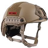 OneTigris サバゲーヘルメット ファストヘルメット MHタイプ 米軍レプリカ装備 多目的 パラシュート・作業・防災など 軽量 (タン)
