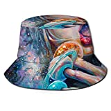 Axiongsd 漁師の帽子 おしゃれん 熱中症予防 日焼け防止 旅行 自転車 小顔効果 黒 ユニセックス 神様