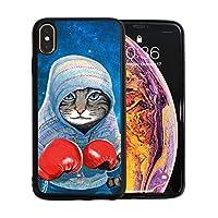 ボクシングの猫 iPhone XS Max ケース アイフォン XS マックス ケース カバー 軽量 耐衝撃 TPU 防塵 指紋防止 ソフト おしゃれ デザイン 個性