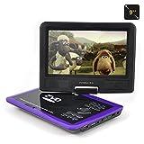 ポータブルDVDプレーヤー 9インチ 960B SD/MMCカード/USBに対応 紫