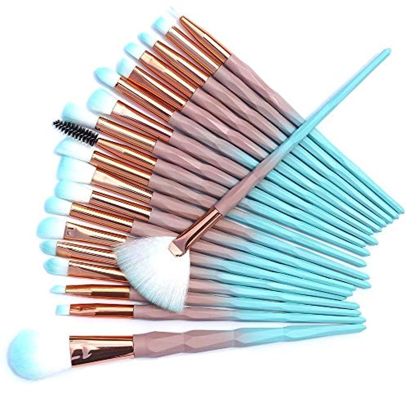 農業知り合いしわ20pcs Diamond Beauty Contour Makeup Brush Synthetic Hair smooth Fan Foundation eyeshadow eyeliner makeup brush