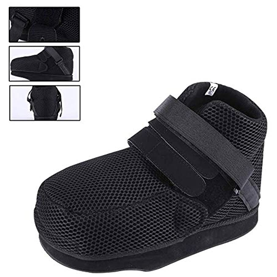 壊れたつま先/足の骨折のための手術後の靴 - 調節可能なストラップ付き医療/外科用ウォーキングシューズ保護キャストブーツ,S