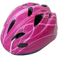 自転車 ヘルメット ジュニア スタンダードモデル Mサイズ 52~56cm ラインピンク 46405