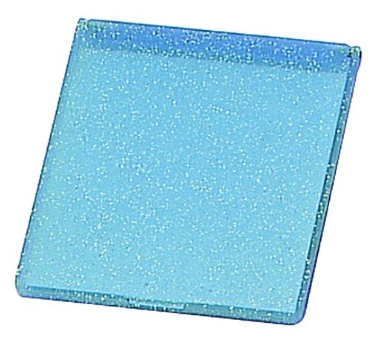 成功する恐ろしいたるみラメ入り コンパクトミラー M ブルー YLA-500
