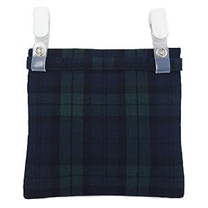移動ポケット ブラックウォッチ 男の子 女の子 どこでもポケット ポケットティッシュ付 ハンドメイド 日本製