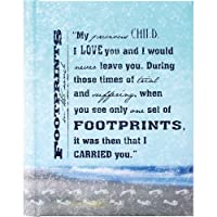 Footprints Padded Cover Lined Page Journal with 16 Verses [並行輸入品]