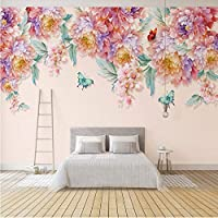 Wuyyii カスタム写真の壁紙3D花牧歌的な壁画リビングルームテレビソファ結婚式の家の背景アートウォールクロス3D-200X140Cm