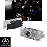 ZNYLSQ LEDドアカーテシランプ レーザーロゴライト カーテシライト LED投影2個セット Mercedes Benz amg W117 W218