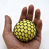 抗ストレスボール10パック/カラーフラッシュLed Squeeze Ball/クールSquishy Ball/Silicone Sensory Ball/不安緩和玩具運動用と手と手首を強化,Yellow