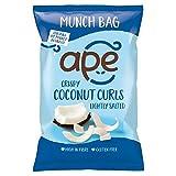 APE Ape Crispy Coconut Curls Lightly Salted Munch Bag 60g - (Ape) クリスピーココナッツカールは軽くムンク袋60グラムを塩漬け [並行輸入品]