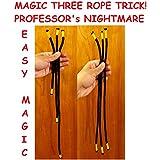 NEWロープ手品教授のNIGHTMARE - 3ロープTRICK - CLOSEUP手品 - NEW ROPE MAGIC TRICK PROFESSORs NIGHTMARE - 3 ROPE TRICK - CLOSEUP MAGIC TRICK