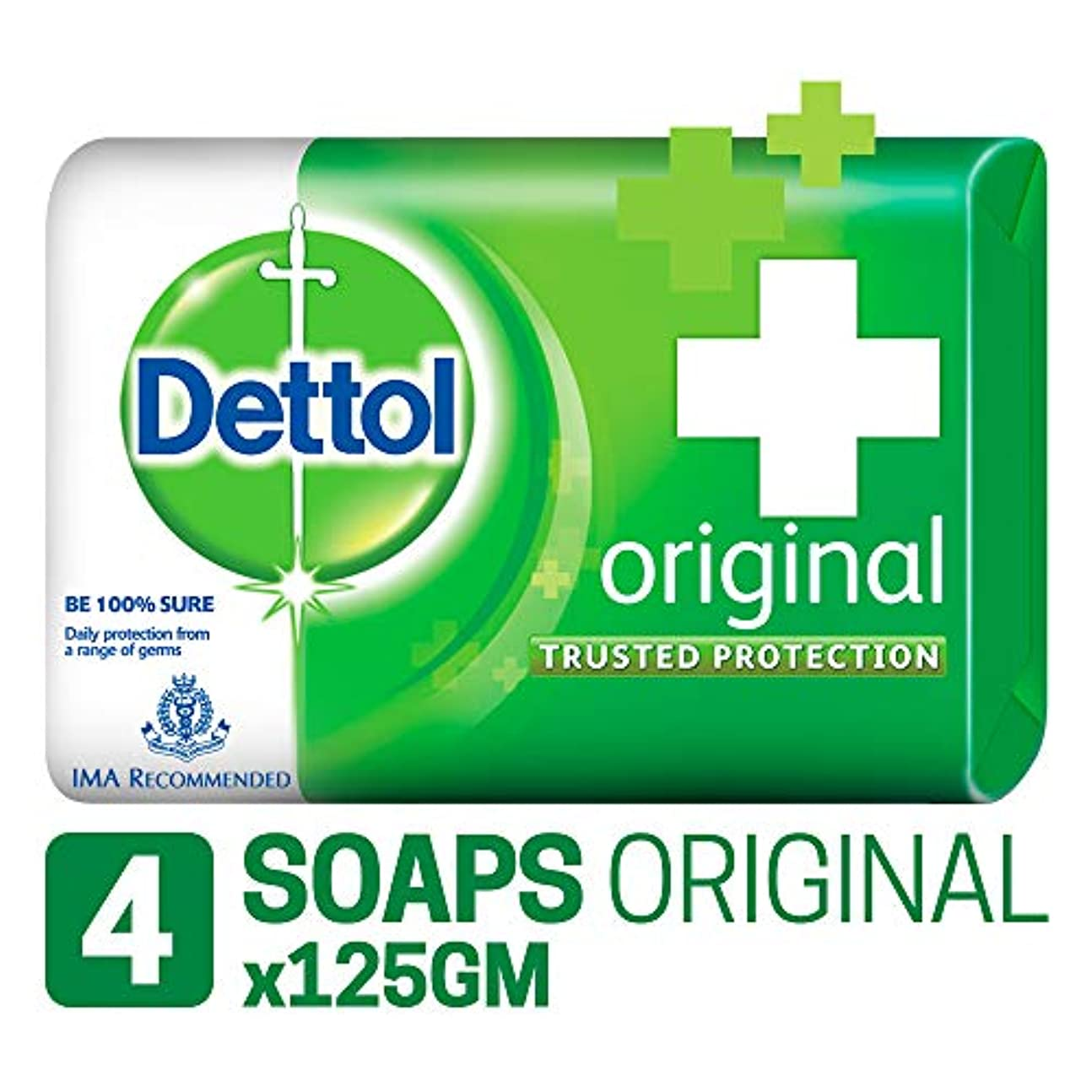 リサイクルする準備した統治可能Dettol Original Soap, 125g (Pack Of 4) SHIP FROM INDIA