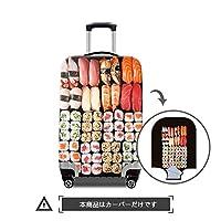 "TOWIN(トーウィン)スーツケースカバー 3Dプリント 伸縮素材 トランク保護 汚れ 傷 防止 S/M/Lサイズ 20""/24""/28""inch お寿司柄CN-Suitcasecover-susi-1-M"