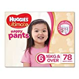Huggies Ultimate Nappy Pants are easy to pull up and down designed to make change time easier whether your active, wriggly baby is laying down or standing up. Easy resealable sides make it easy to slip them on and off for an easy nappy change...