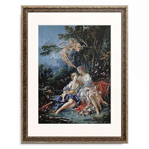 フランソワ・ブーシェ François Boucher 「Jupiter und Callisto. 1744.」 額装アート作品