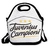 ランチバッグ 弁当袋 UEFA エンブレム シニョーラ ビアンコネーロ 超軽量 バッグ 肩掛け 3way 伸縮性 Black One Size