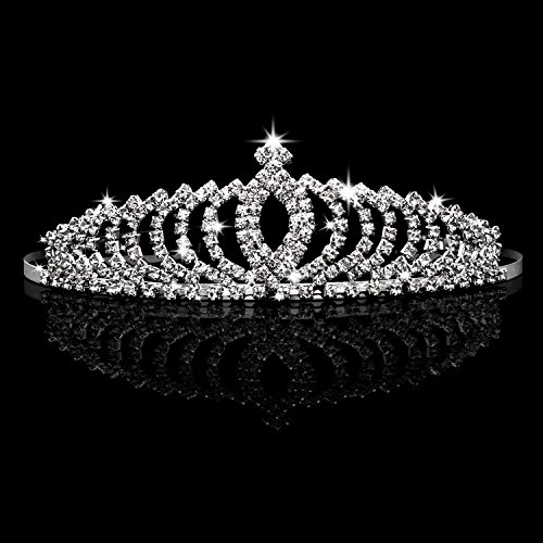 Tiaras and Crowns,Vofler 2 Pack Crystal Tiara Crown Headband Headpiece Rhinestone Hair Jewelry for Women Ladies Little Girls Bridal Bride Princess Queen Birthday Wedding Pageant Prom Party with Combs