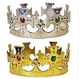 【今日の主役はあなたに決まり】 ゴールド 王冠  シルバー 王冠  2個セット 誕生日会 パーティー など 【金と銀】 h1