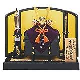 五月人形 兜飾り 平安一水作 本金箔押 正絹緋縅裾裏 8号 兜飾り 久月監製 GOQ-11909 人形の久月
