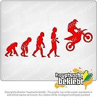エボリューションモトクロスオートバイ Evolution Motocross Motorcycle 20cm x 9cm 15色 - ネオン+クロム! ステッカービニールオートバイ