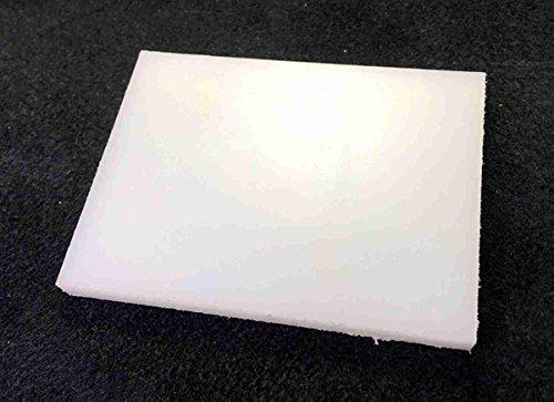 クラフト工具 プラスチック板 平面打ち台 80*60mm 厚6mm ホワイト 工具の先端保護に 1個入り