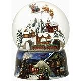 Roman 8' 150mm Musical Glitterdome with Santa in Sleigh [並行輸入品]