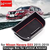 Armrest Box Storage for Nissan Navara NP300 D23 2015-2020 Stowing Tidying Organizer Accessories 2015 2016 2017 2018 2019 2020