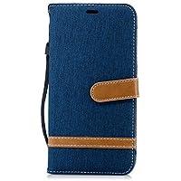 Lomogo iPhone XS Maxケース 手帳型 耐衝撃 レザーケース 財布型 カードポケット スタンド機能 マグネット式 アイフォンXS Max 手帳型ケース カバー 人気 - LOBFE12749 ネイビー