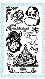 クリスマスイブ ~ クリアスタンプ (9x18cm) // Christmas Eve ~ Clear stamps pack (9x18cm) FLONZ