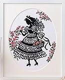 オリムパス製絲 クロスステッチししゅうキット 「オノエ・メグミの少女のステッチ」No.7385 花かご