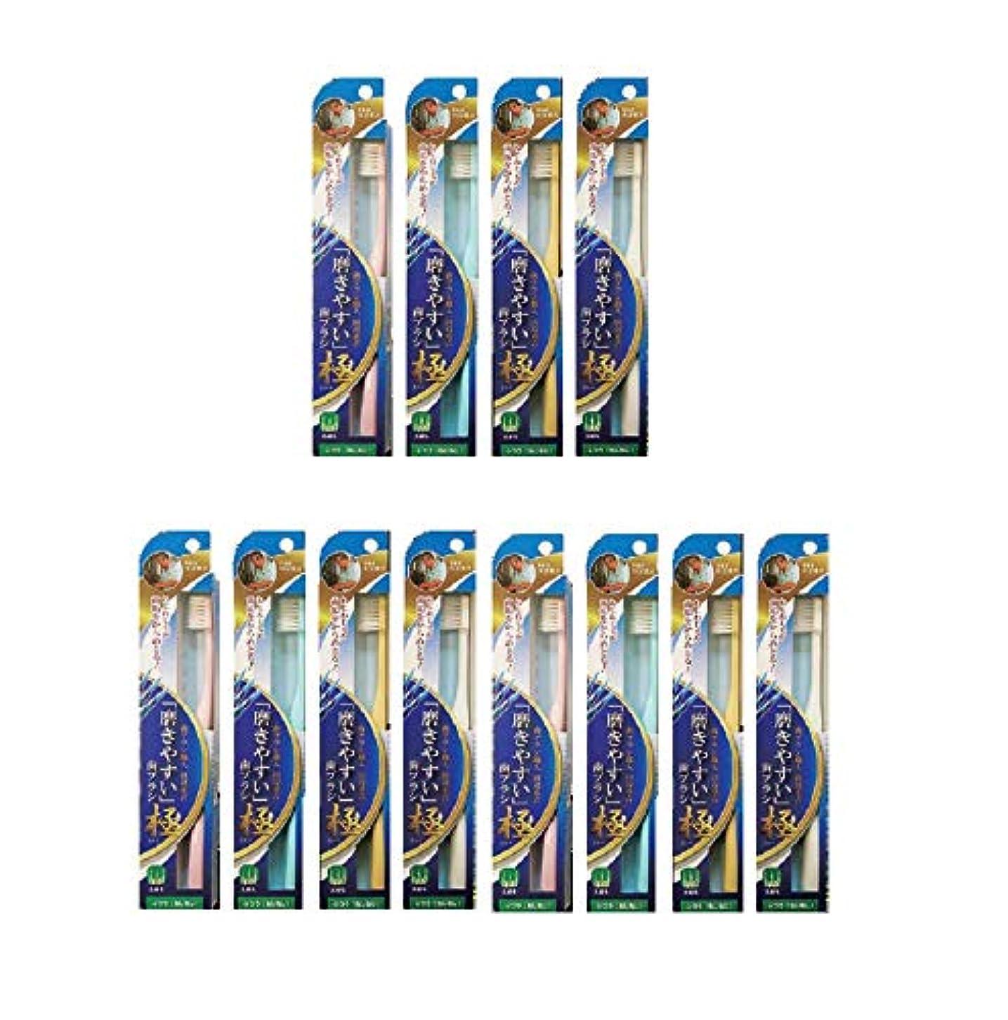 ハイジャック袋顔料ライフレンジ 磨きやすい歯ブラシ 極(ふつう ねじねじタイプ) LT-45×12本セット