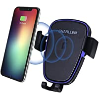 Qi 車載 ワイヤレス充電器 急速充電 スマホホルダー 両用 車載ホルダー 強力固定 iPhone 8/8 Plus/X Galaxy S9/S9+/Note8/S8/S8+/S7/S6 Edge+/Note 5などQi機種対応 by Sharllen
