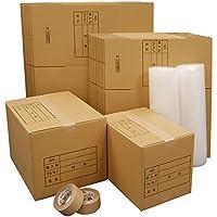 ボックスバンク ダンボール 引っ越し セットL 段ボール箱 ●ダンボール箱(大・中)30枚、プチプチ 2巻、クラフトテープ 2巻 ZH11-0030-s