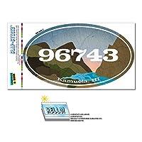 96743 カムエラ, こんにちは - 川岩 - 楕円形郵便番号ステッカー