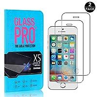 【2枚セット】 iPhone SE / 5 5S 超薄 フィルム CUNUS Apple iPhone SE / 5 5S 専用設計 強化ガラスフィルム 高透明度で 気泡防止 飛散防止 硬度9H 耐衝撃 超薄0.26mm 液晶保護フィルム