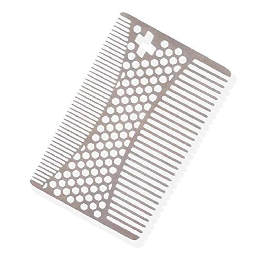 憂鬱な素晴らしさ大事にするSHARPSWISS Credit Card Pocket Men Hair and Beard Comb Short - Stainless Steel [並行輸入品]