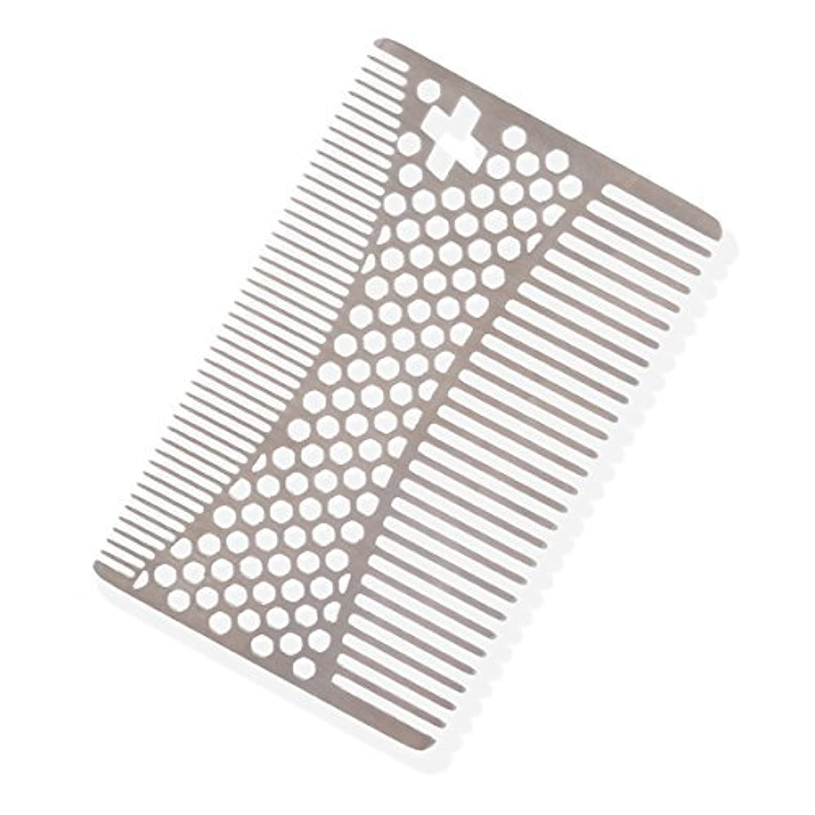 十分に農業の組立SHARPSWISS Credit Card Pocket Men Hair and Beard Comb Short - Stainless Steel [並行輸入品]