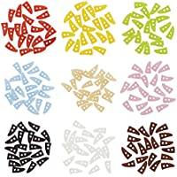 人形用 ドール服の材料 ダッフルボタン 10mm プラスチック トグルボタン 9色 (レッド、オレンジ、ライムグリーン、ブルー、アンバー、ピンク、ブラック、ホワイト、ブラウン) 各4個 合計 36個
