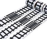 Mille Ti Rana 道路 線路 ミニカー と遊べる マスキングテープ 1巻5m 3個セット (線路)