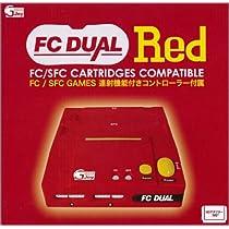 FC DUAL RED 【ファミコン・スーパーファミコンの互換機 MDアダプター対応】