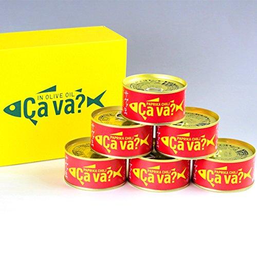 国産サバのオリーブオイル漬け 「サヴァ缶パプリカチリソース味セット (170g×6缶) 」