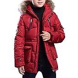 Zhuhaitf 子供用ファッションジャケット Winter Big Kids Boys Fashion Hooded Cotton Jacket Outwear Simple Solid Color