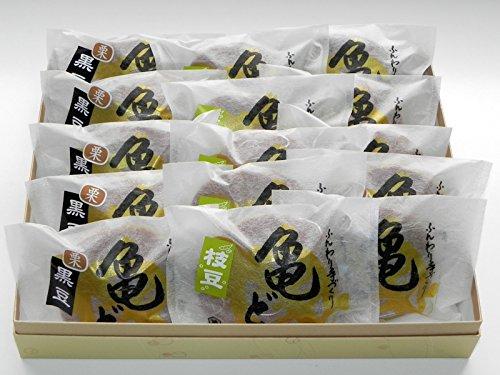越後湯沢 創作和菓子 萬亀 丸ごと1個栗入り黒豆どら焼き10個 枝豆餡どら焼き5個 詰合せ