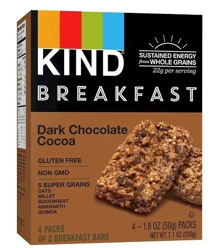 KIND Dark Chocolate Cocoa ダークチョコレートココアブレックファスト5スーパーグレインバー200g [並行輸入品]
