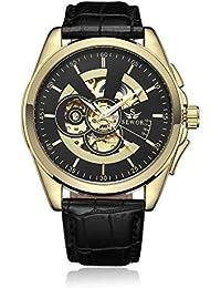 [ゴフオス]GOHUOS 腕時計 機械式 自動巻き スケルトン 文字盤 メンズ ブラック