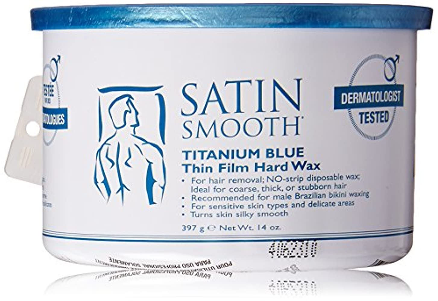 間下線眩惑するSatin Smooth Titanium Blue Wax, 14 Ounce 141[並行輸入]