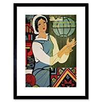 Political Economy Export Produce Vietnam Textile Framed Wall Art Print 政治ベトナム壁