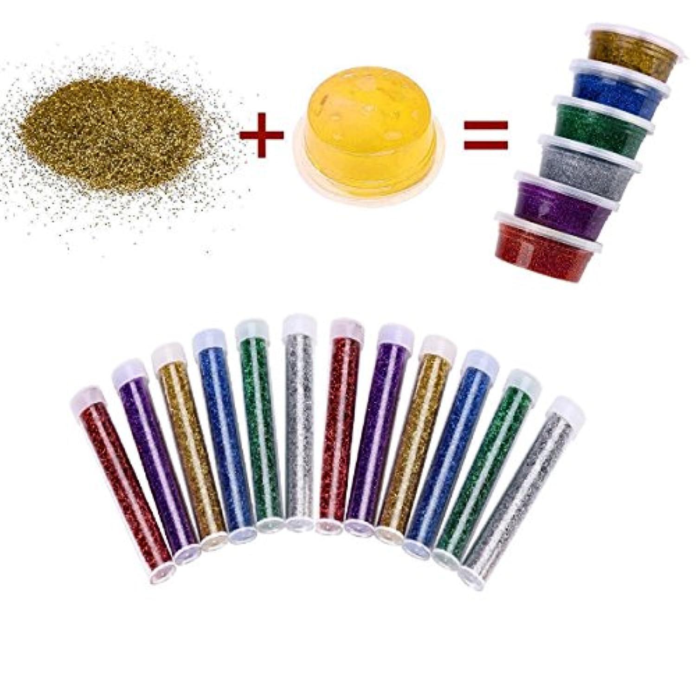 33パックSlime Supplies – 12個Glitter Jar 20 g Slimeスライム、10個のコンテナストレージの、金魚鉢ビーズ5.3 Oz、Slushieビーズ3.5oz発泡スチロール、Foam Balls 13000pcs with Fruitスプライス、キラキラスパンコール