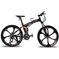 Cyrusher FR100 MTBブラック 自転車26インチ軽量折りたたみ式アルミフレーム マウンテンバイク24段変速ギア搭載
